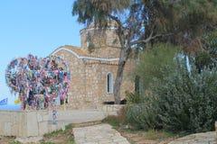 Kyrka av Elijah profeten i Protaras, Cypern royaltyfri fotografi