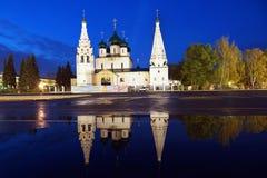 Kyrka av Elijah profeten i Yaroslavl, Ryssland Arkivfoton