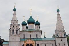 Kyrka av Elijah profeten i Yaroslavl (Ryssland) Arkivfoto