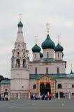 Kyrka av Elijah profeten i Yaroslavl (Ryssland) Fotografering för Bildbyråer
