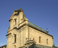Kyrka av exaltationen av det heliga korset i Krosno poland Royaltyfria Bilder