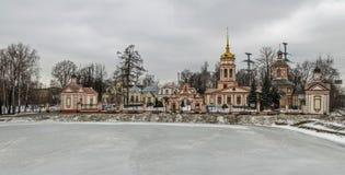 Kyrka av exaltationen av det heliga korset, Moskva, Ryssland Arkivfoto