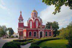 Kyrka av förklaringen av den välsignade oskulden i Petrovsky PA Arkivfoton