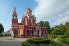 Kyrka av förklaringen av den välsignade oskulden i Petrovsky PA Royaltyfria Bilder