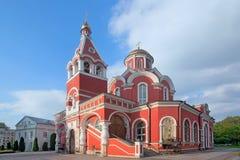 Kyrka av förklaringen av den välsignade oskulden i Petrovsky PA Arkivfoto