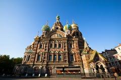 Kyrka av frälsaren i St Petersburg, Ryssland Royaltyfri Fotografi