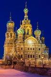 Kyrka av frälsaren på blod i St Petersburg royaltyfria bilder