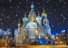 Kyrka av frälsaren på blod i St Petersburg, Ryssland arkivbild