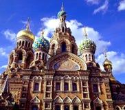 Kyrka av frälsaren på blod, Ryssland St Petersburg royaltyfria bilder