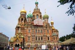 Kyrka av frälsaren på blod, St Petersburg royaltyfria foton
