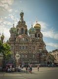 Kyrka av frälsaren på blod, St Petersburg Royaltyfria Bilder