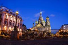 Kyrka av frälsaren på blod, St Petersburg, Ryssland Royaltyfri Foto