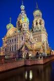 Kyrka av frälsaren på blod, St Petersburg, Ryssland Royaltyfria Bilder