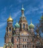 Kyrka av frälsaren på blod, St Petersburg, Ryssland Arkivfoto