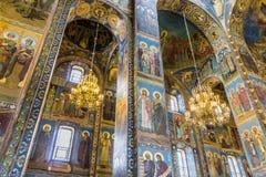 Kyrka av frälsaren på spillt blod (domkyrkan av uppståndelsen) royaltyfria foton