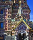 Kyrka av frälsaren på spillt blod i St Petersburg Royaltyfri Fotografi