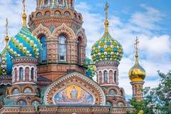 Kyrka av frälsaren på spillt blod, St Petersburg Ryssland royaltyfri fotografi