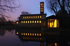 Kyrka av fred (Friedenskirche) i Potsdam arkivfoto