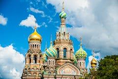 Kyrka av frälsaren på blod i St Petersburg, Ryssland Royaltyfri Bild