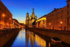 Kyrka av frälsaren på blod, St Petersburg, Ryssland Royaltyfri Fotografi