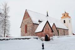 Kyrka av Gammelstad, Sverige arkivbild