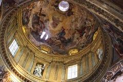 Kyrka av Gesuen i Rome arkivbild