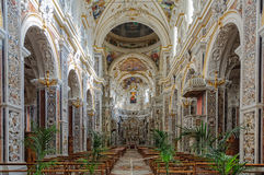 Kyrka av Gesuen - Palermoen arkivfoton