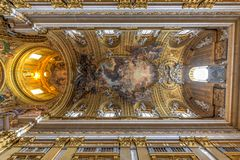 Kyrka av Gesuen - Rome, Italien royaltyfria foton
