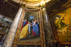 Kyrka av Gesuen, Rome, Italien Arkivbilder