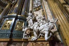 Kyrka av Gesuen, Rome, Italien Arkivfoton