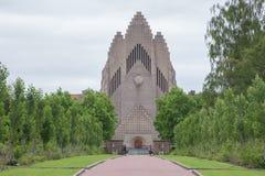 Kyrka av Grundtvig, Köpenhamn, Danmark Fotografering för Bildbyråer