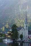 Kyrka av Hallstatt Arkivbild