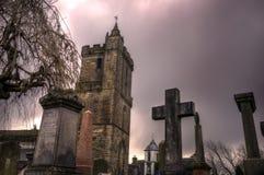 Kyrka av helgedomen som är ohyfsad i Stirling Scotland Arkivfoton
