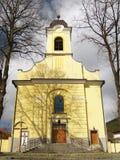 Kyrka av helgedomkorset i lyckligt, Slovakien Arkivfoton