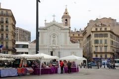 Kyrka av helgon-Ferréolles Augustins, Marseille, Frankrike Arkivfoto