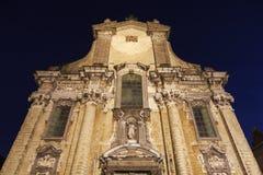 Kyrka av helgon Peter och Paul på Veemarkt i Mechelen Arkivbild