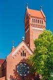 Kyrka av helgon Simon And Helen - röd kyrka in Arkivbild