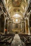 Kyrka av helgonen Filippo och Giacomo i Naples, Italien royaltyfri fotografi