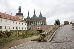 Kyrka av helgonet Barbara i Kutna Hora, Tjeckien Arkivbild