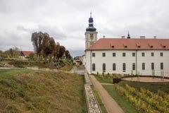 Kyrka av helgonet Barbara i Kutna Hora, Tjeckien Arkivbilder