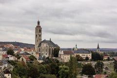 Kyrka av helgonet Barbara i Kutna Hora, Tjeckien Arkivfoto