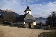 Kyrka av helgonet Catherine, Slovenien arkivbild