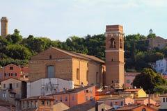 Kyrka av helgonet Francesco Ancona Italien Arkivfoton