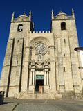 Kyrka av helgonet Ildefonso i Porto Portugal arkivbild