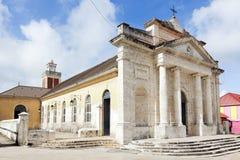 Kyrka av helgonet Jean Baptiste på Le Moule, Guadeloupe Royaltyfri Fotografi