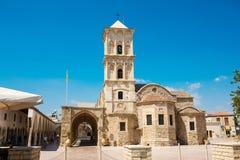 Kyrka av helgonet Lazarus, Larnaca, Cypern royaltyfria foton
