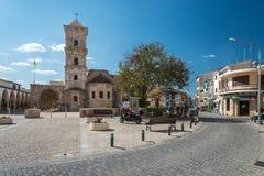 Kyrka av helgonet Lazarus Larnaca Cyprus Fotografering för Bildbyråer