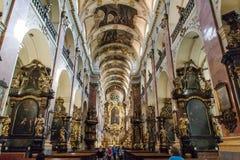 Kyrka av helgonet Ludmila i Prague Fotografering för Bildbyråer