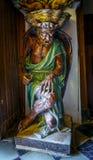 Kyrka av helgonet Mary Magdalene, berömd demon Rennes le Chateau Frankrike Arkivfoton