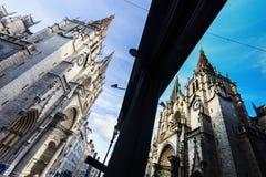 Kyrka av helgonet Nizier i Lyon Arkivfoto